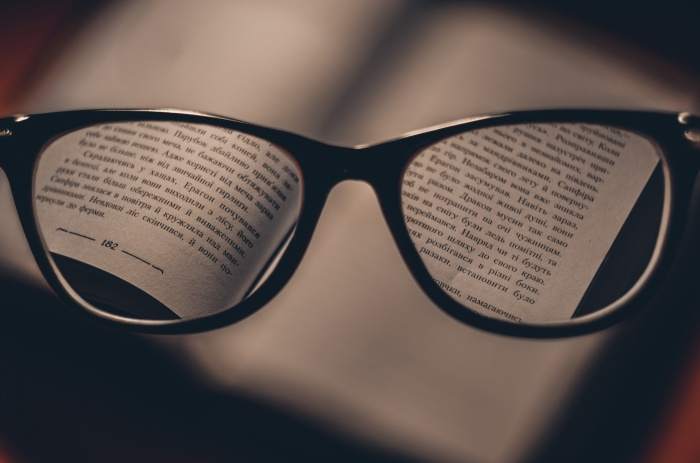 book-through-glasses