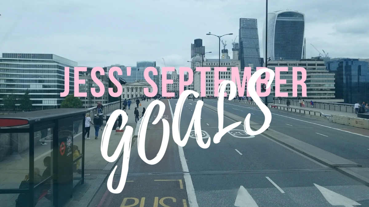 My Goals for September
