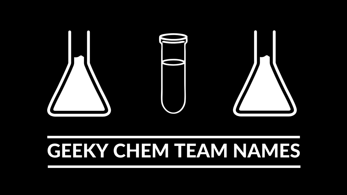 Geeky Team Names: Chemistry